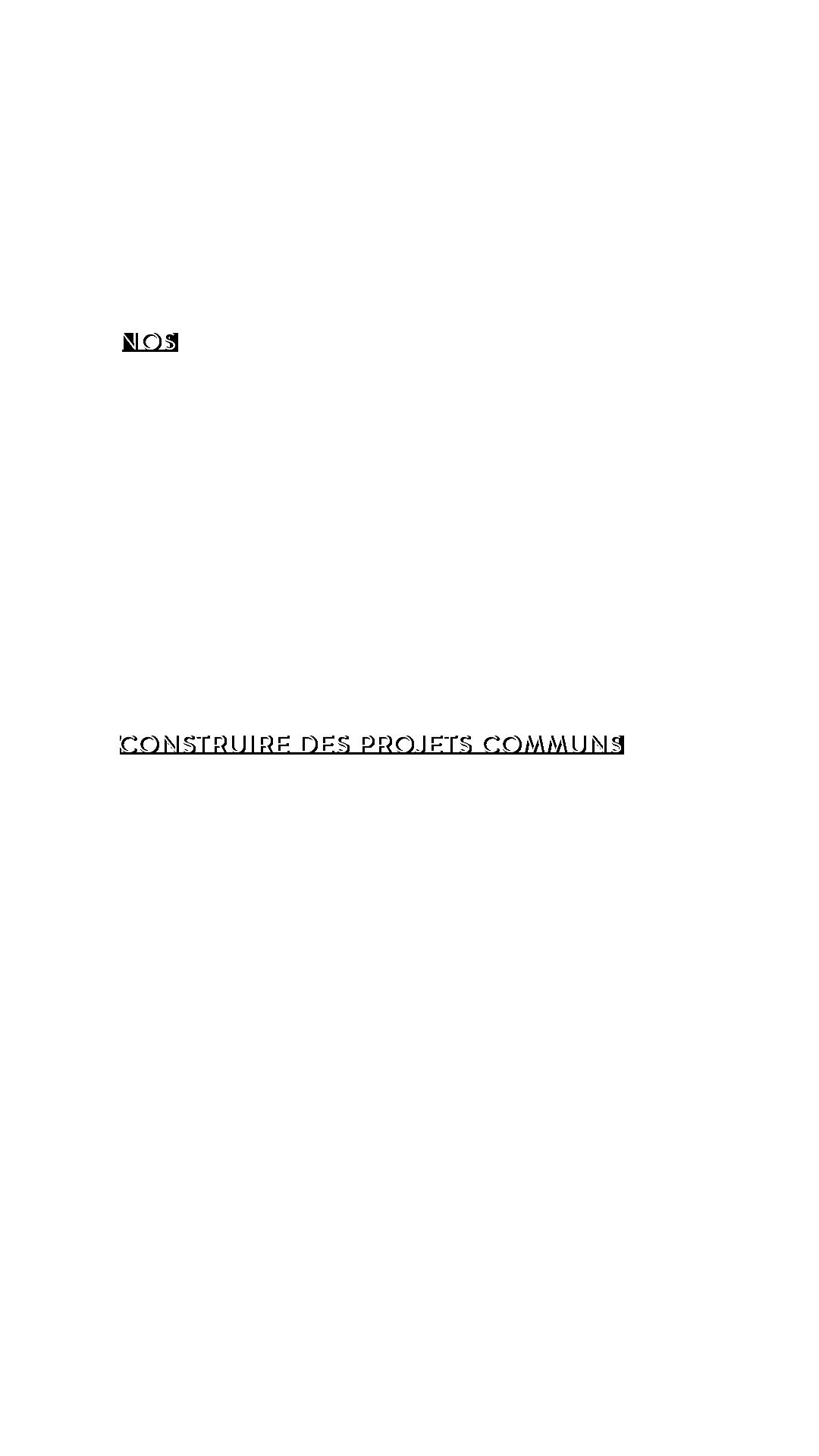 Nos partenaires : construire des projets communs
