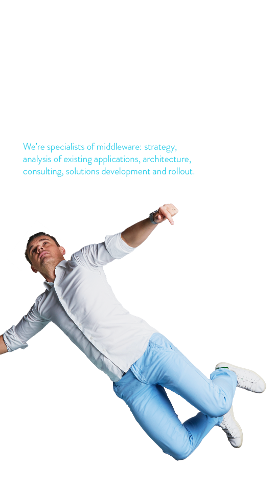 Hello! We are middleway. We set data in motion. We are specialist of middleware: strategy, analysis of existing applications, architecture, consulting, solutions development and rollout