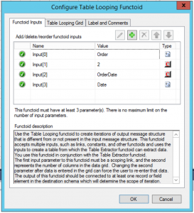 Configure Table looping functoid