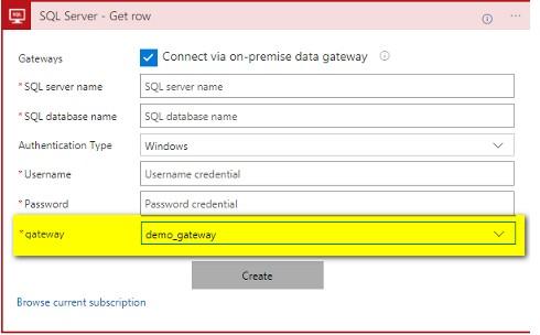Utilisation la Connection Gateway sur une Logic App