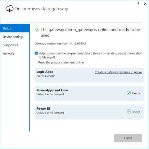 Install Azure On-Premises Data Gateway - step 8
