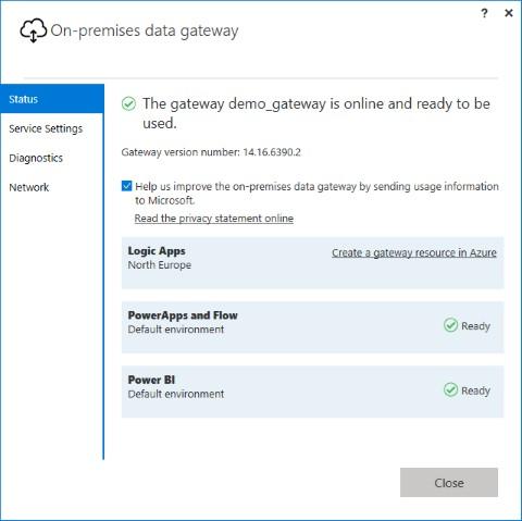 Installer Azure On-Premises Data Gateway - étape 7