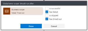 Condition d'exécution sur une shape logic app
