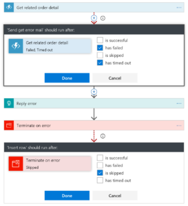Configure run after for specific errors in azure logic app