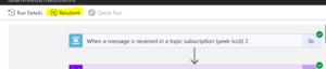 Azure logic app resubmit button