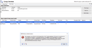 biztalk administrator tracking non operationnel
