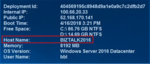 see hostname biztalk tracking azure
