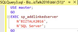 sql fix query biztalk adminsitrator on Azure