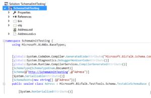 unit test xml schema code view