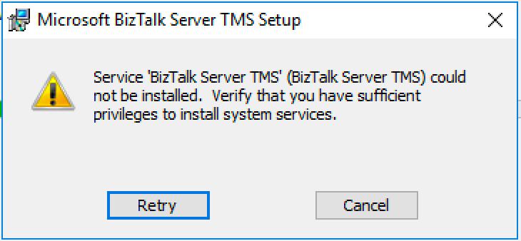 BizTalkTMS Error Message