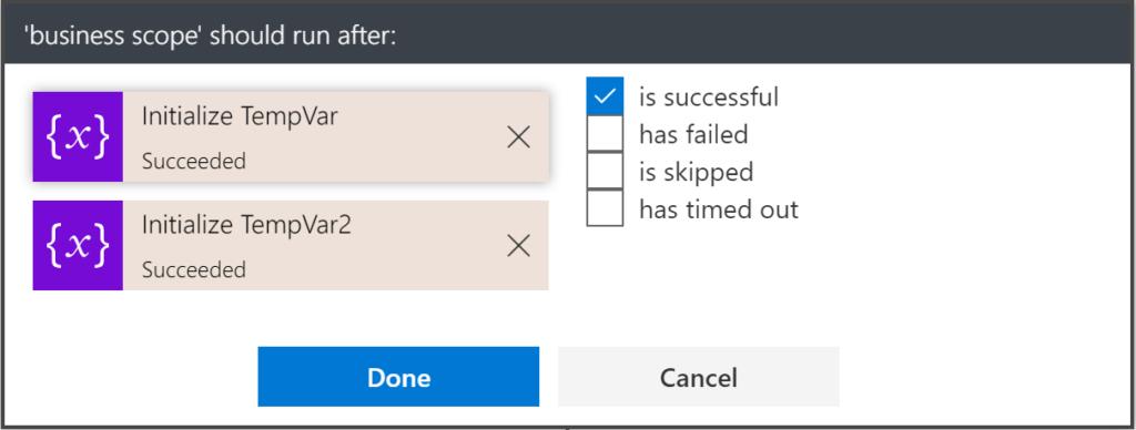 configure run after detail