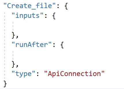 logic app action json code