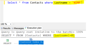 parameterization by sql server