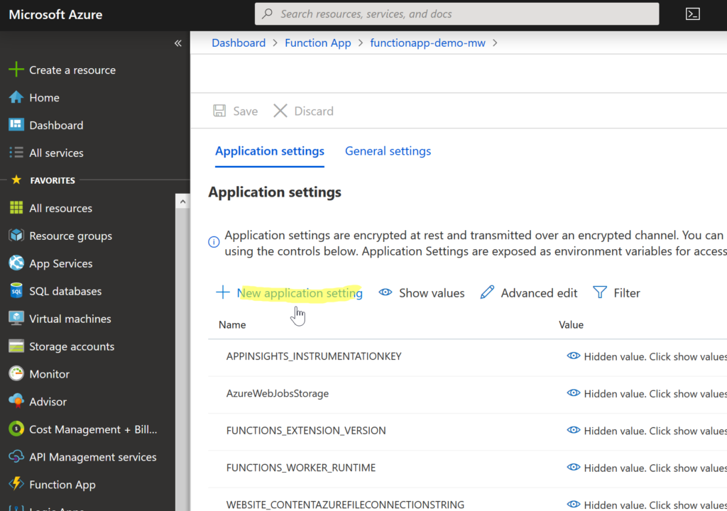 Getting secret from Key Vault in Azure Function App