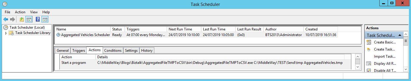 Création du task scheduler