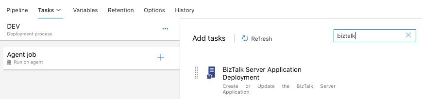 Tâche de déploiement BizTalk