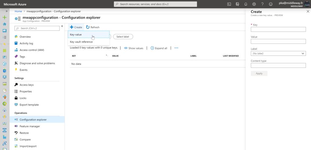 Adding key/value settings