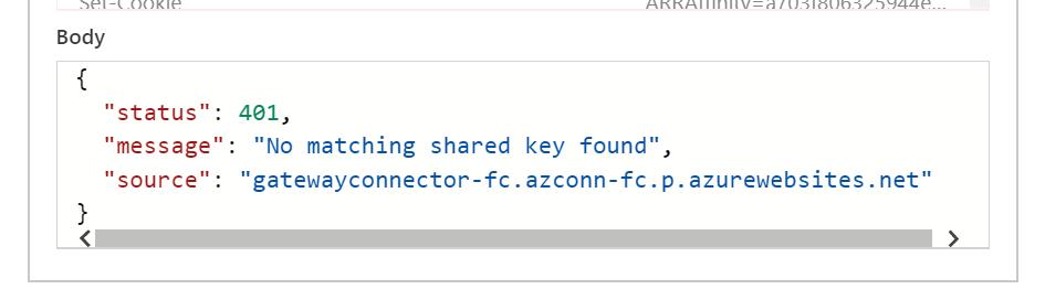 On Premise Data Gateway No matching-shared-key-found