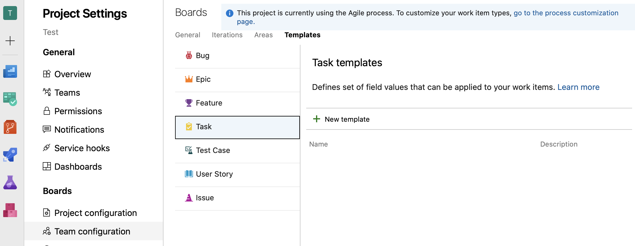 DevOps Template Creation