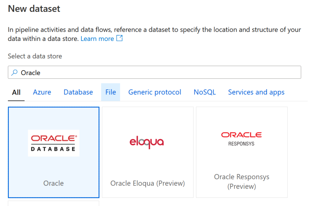 Dataset Oracle