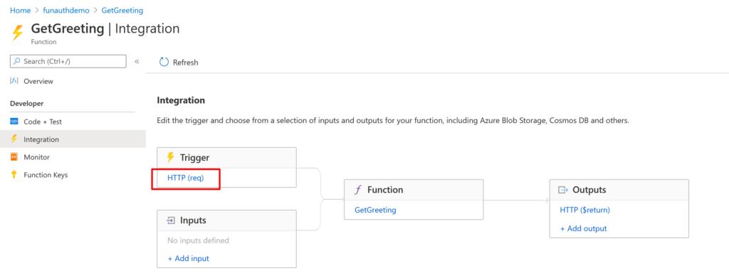 Managing Azure Function