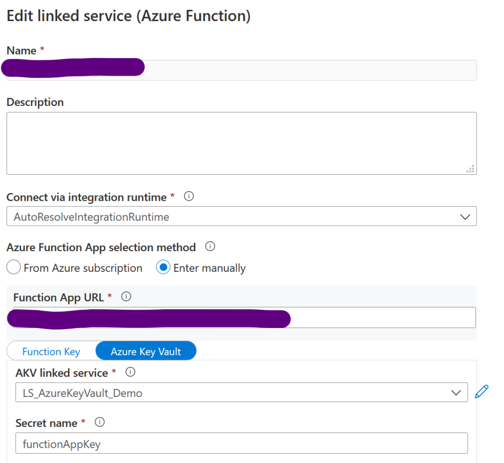 Azure function data set
