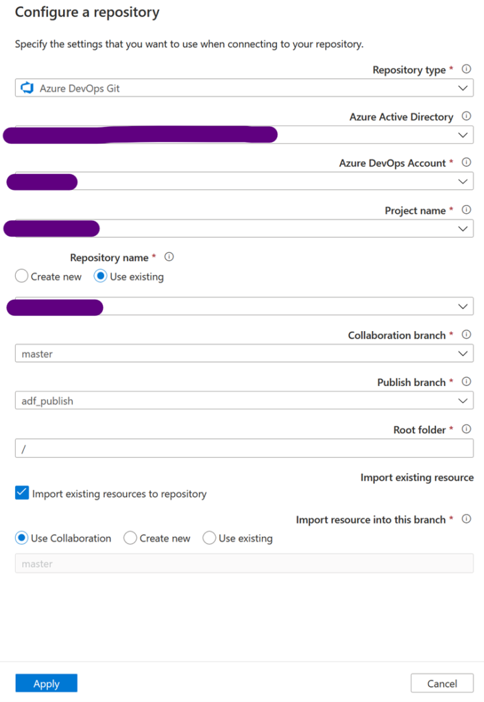 Configure repository